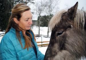 Liten med häst